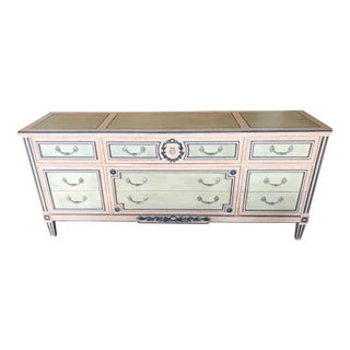 Baker Directiore Style Decorated Dresser For Sale