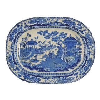 1880's Chinoiserie Transferware Platter For Sale