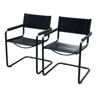 1980s Mid-Century Modern Mart Stam for Fasem Side Chairs - a Pair For Sale