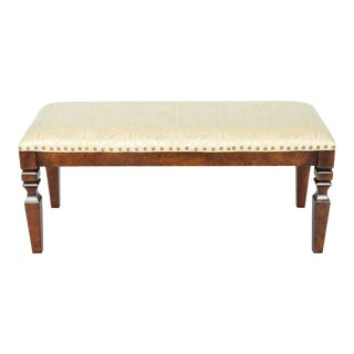 Mahogany Wood Framed Bench For Sale