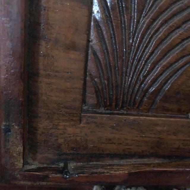 Brown Vintage Hand-Carved Teak Panel For Sale - Image 8 of 9
