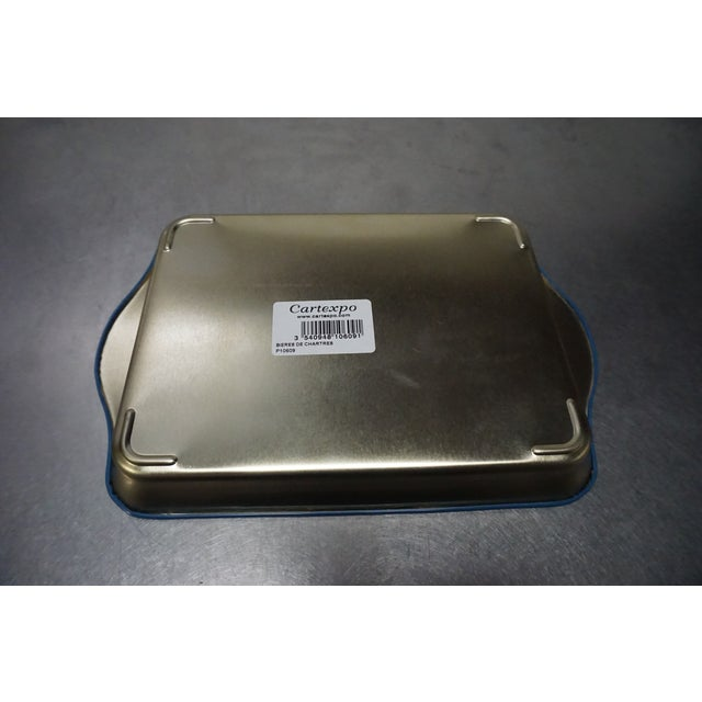 Small Blue Metal Tray - Image 5 of 5