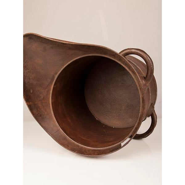 French 19th Century Enormous French Iron Wine Jug with Raised Handles For Sale - Image 3 of 11