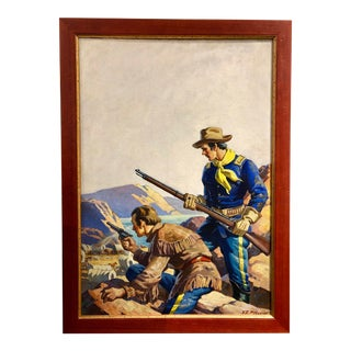 Virgil E. Pyles Wild West Painting For Sale