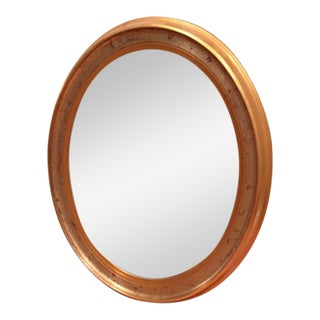 La Barge Gold Leaf Oval Accent Mirror For Sale