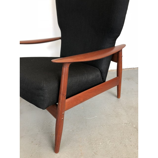 1960s Danish Modern Reclining Lounge Chair and Ottoman - 2 Pieces For Sale - Image 12 of 13