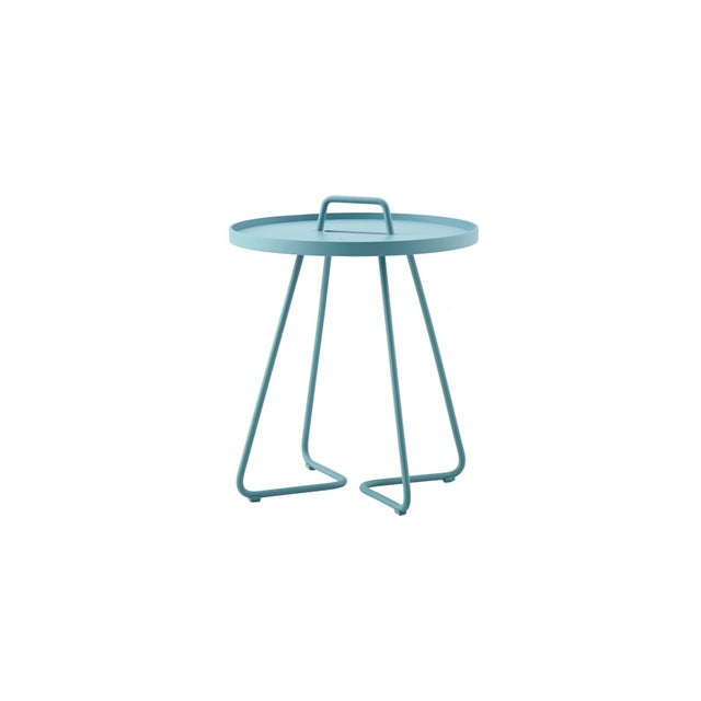 2010s Cane-Line On-The-Move Side Table, Small, Aqua For Sale - Image 5 of 5