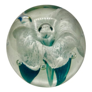 1960s Mid-Century Murano Bulicante Paperweight For Sale