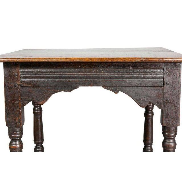 Jacobean Jacobean Oak Table For Sale - Image 3 of 10