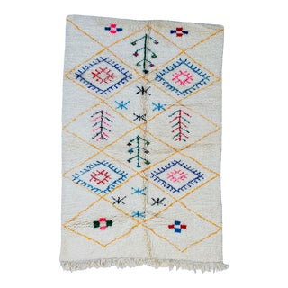 1970s Authentic Moroccan Rug- 5′1″ × 7′10″ For Sale
