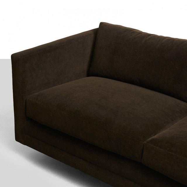 Textile Harvey Probber Chocolate Sofa For Sale - Image 7 of 7