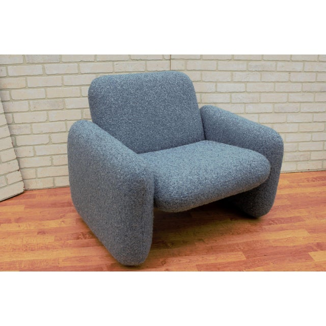 Textile Mid Century Modern Ray Wilkes for Herman Miller Blue Chiclet Lounge Chairs - a Pair For Sale - Image 7 of 9