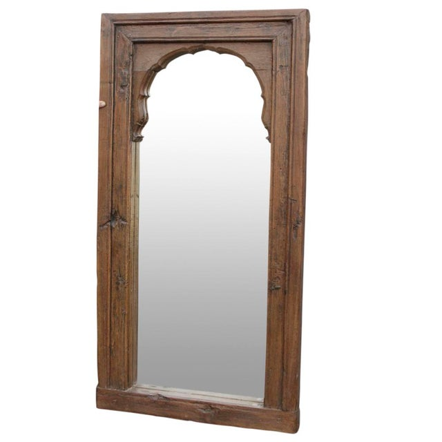 Rustic Grand Indian Haveli Mirror For Sale - Image 3 of 5