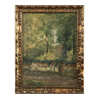 Antique Framed Oil Painting on Board by Jef Riket For Sale