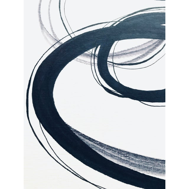 """Contemporary """"Alternating Rings"""" Original Mixed Media Drawing For Sale - Image 3 of 7"""
