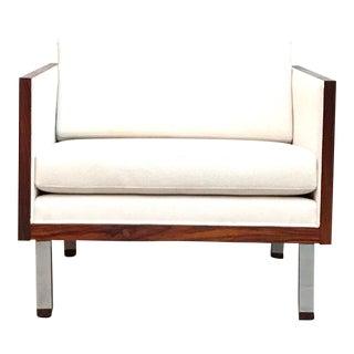 Danish Mid Century Modern Rosewood Case Club Chair by Jydsk Mobelvaerk For Sale