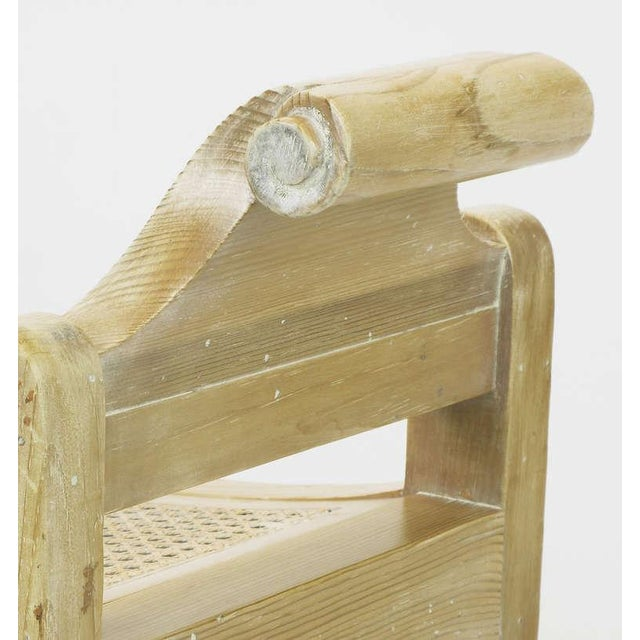 Pair Swedish Rococo Style White Glazed Pine Benches - Image 7 of 10