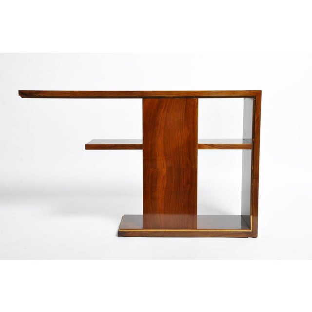 Art Deco Hungarian Art Deco Console With Shelves For Sale - Image 3 of 13