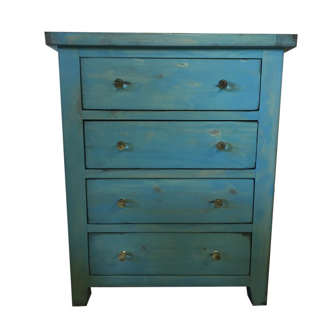 Blue Shabby Chic Chest - Image 1 of 6