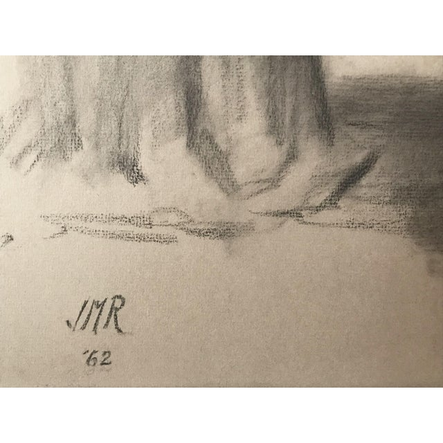 1960s J. Mason Reeves Original Nude Drawing 1962 For Sale - Image 5 of 7