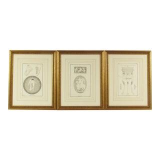 18th C. Willemin Greek Mythological Engravings - Set of 3 For Sale