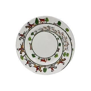 "English Hunting Scene 9"" Luncheon Plate For Sale"
