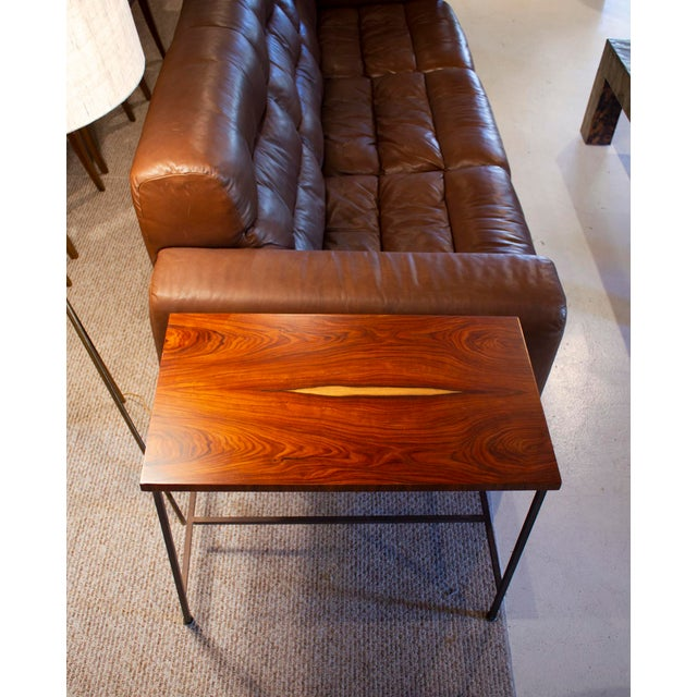 Calvin Book-Matched Rosewood Side Tables by Paul McCobb for Calvin For Sale - Image 4 of 7