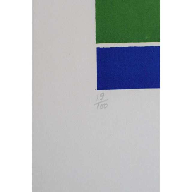 The colors are so vibrant, they jump off the page! This serigraph on paper is by the Italian artist, Piero Doranzio. It is...