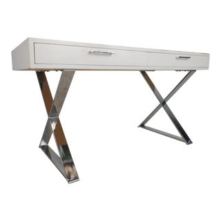 Mid-Century Modern Campaign Desk in the Style of Milo Baughman For Sale