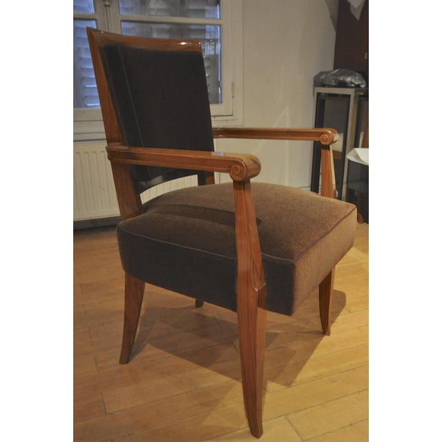Maxime Old Pair of Refined Solid Walnut Armchairs For Sale - Image 9 of 9