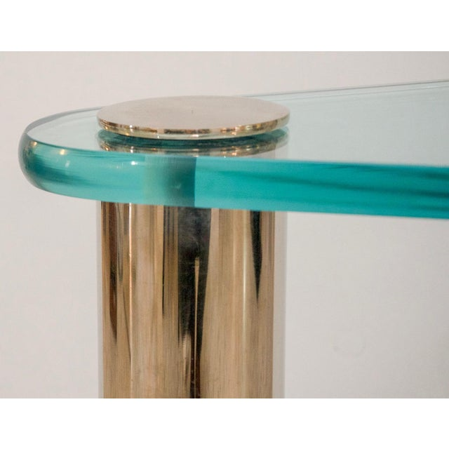Late 20th Century Glass and Stainless Steel Drinks Table by Pace Furniture For Sale - Image 5 of 8