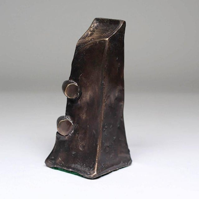 Vintage Mid Century Abstract Bronze Sculpture - Image 2 of 3