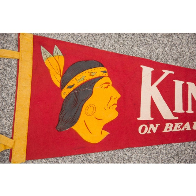 Vintage 1940s / 50s felt flag banner that is so charming and fun!