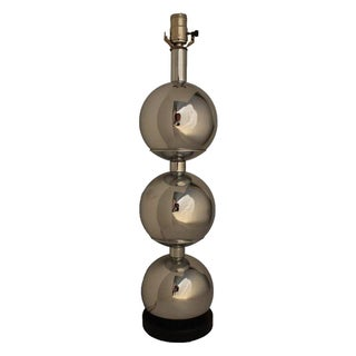 Chrome Stacked Ball Lamp For Sale