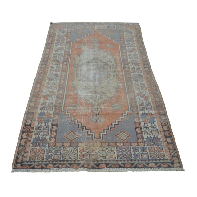 Anatolian Vintage Turkish Rug - 3′10″ × 6′9″ For Sale