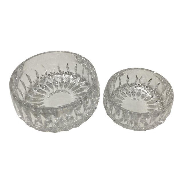 Mid 20th Century Lead Crystal Candy Dishes - a Pair For Sale