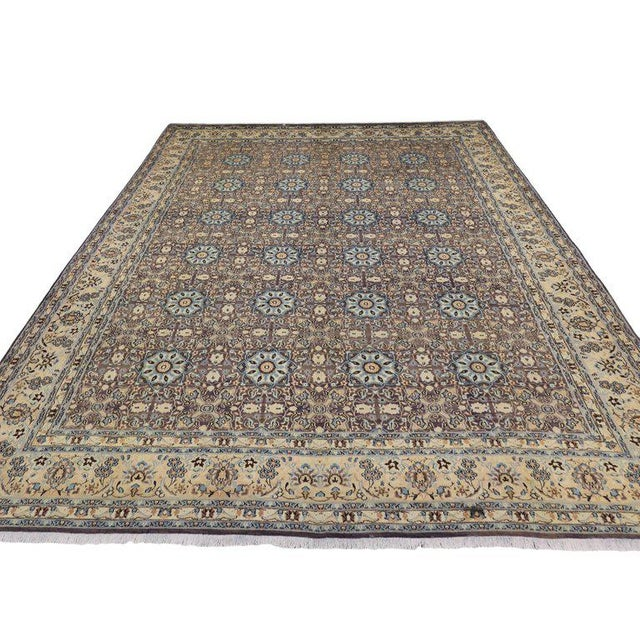 Contemporary Vintage Persian Moud Mood Rug For Sale - Image 3 of 9