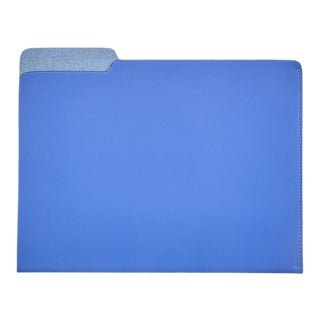 File Folder, Bonded Leather in Blue For Sale