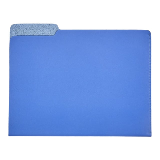 File Folder, Bonded Leather in Blue For Sale