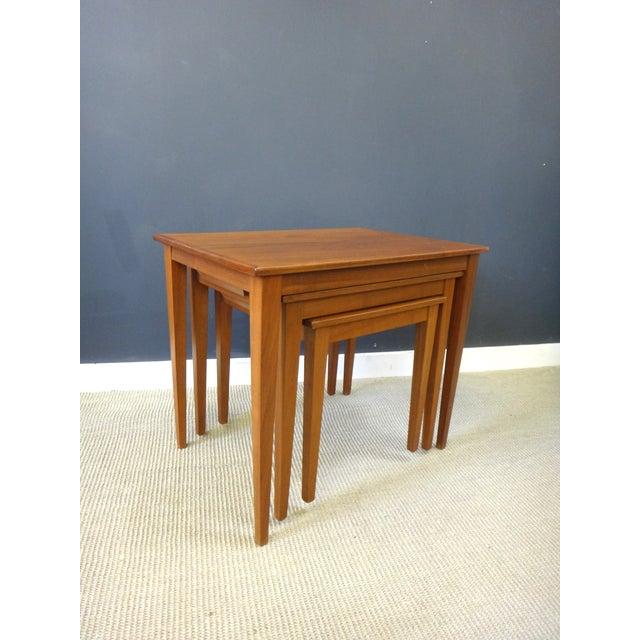 Danish Modern Teak Nesting Tables - Image 3 of 6