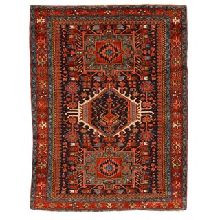 Antique Early 20th Century Persian Karadja Rug For Sale