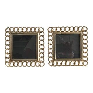 Ralph Lauren Brass Chain Link Frames - A Pair