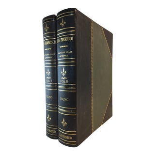Early 20th Century Illustrated Books, San Francisco, a History of the Pacific Coast Metropolis by John P. Young - Set of 2 For Sale