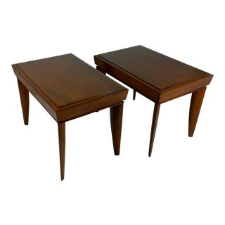 1950s Vintage Brown and Saltman End Tables- A Pair For Sale