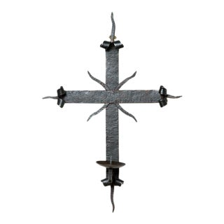 Contemporary Mission Cross Sconce