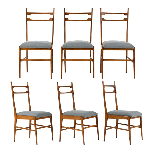 Set of 6 Mid-Century Modern Dining Chairs - Image 1 of 9