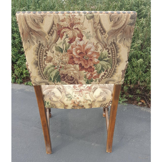 1940s Vintage Upholstered Dining Chairs- Set of 8 For Sale - Image 4 of 13