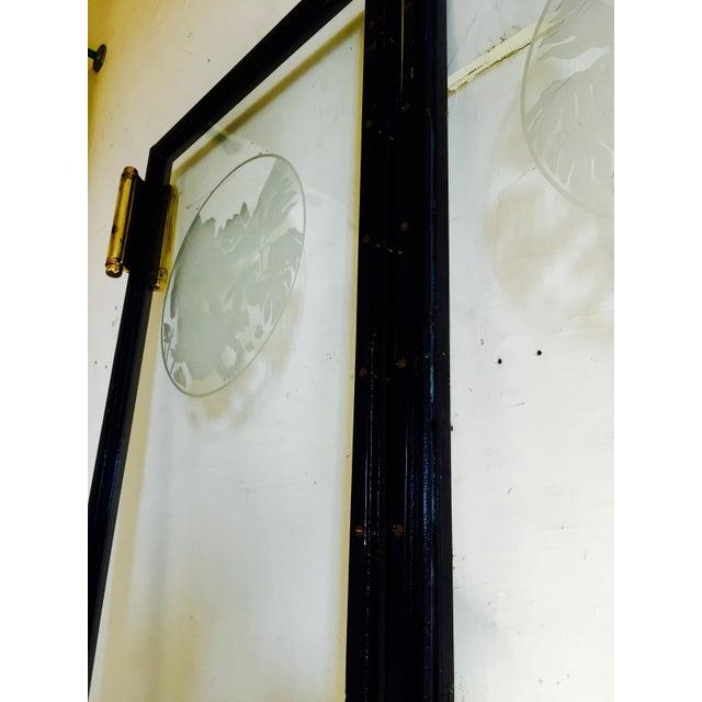 Art Nouveau Glass Cruise Ship Doors - Pair For Sale - Image 7 of 11
