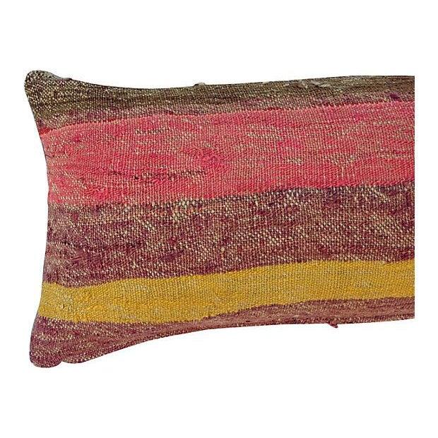 Striped Camel Sack Lumbar Pillows - A Pair - Image 5 of 5
