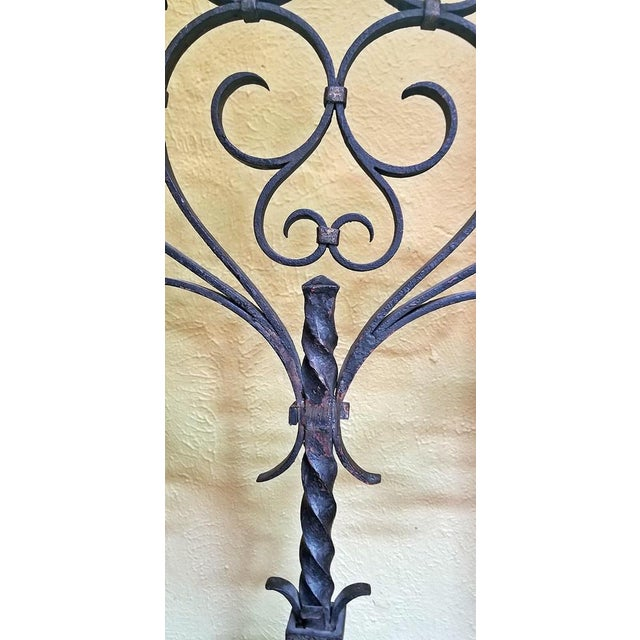 18c Spanish Cast Iron Floor Candelabra - Image 6 of 10